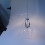 Volledig glazen automatische buret volgens Pellet