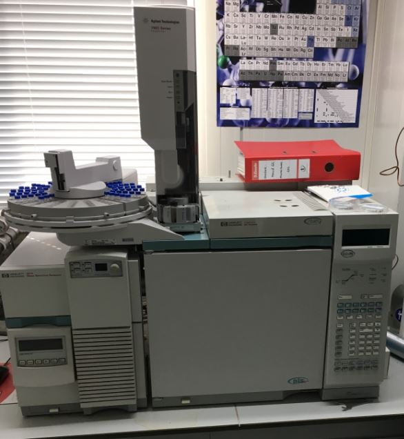 Used agilent-6890 GC with 5975 MS for sale. System is a good state and was recently calibrated and serviced.