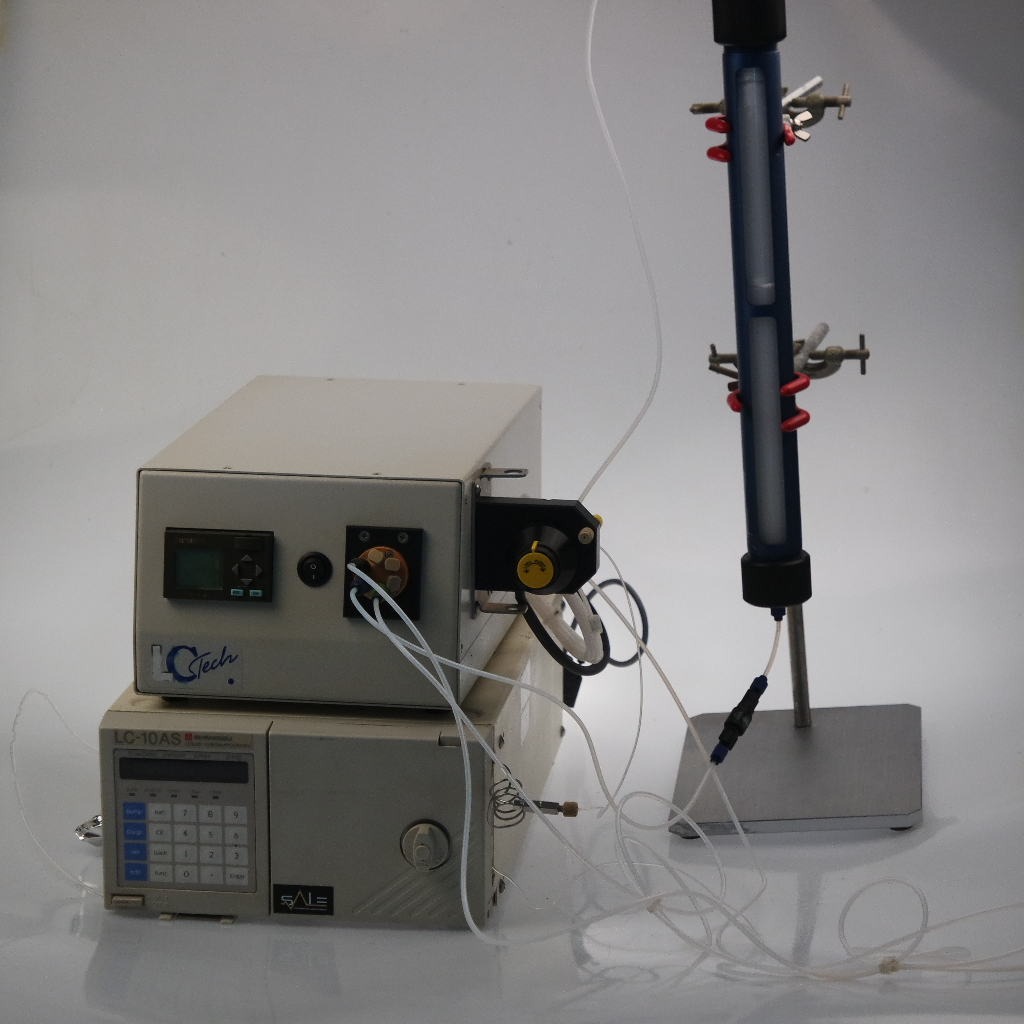 Used GPC clean-up instrument, Basix and Shimadzu LC-10AS HPLC pump