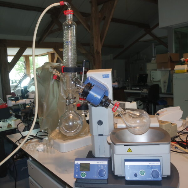 Used IKA RV 10 basic rotary evaporator with integrated HB 10 heating bath