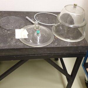 791-Used laboratory weighing table, granite top