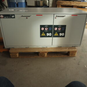 Used safety storage under bench cabinet Asecos model UB-S-90