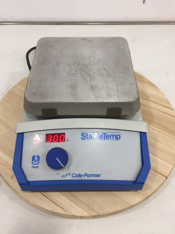 Used StableTemp aluminium hotplate from Cole-parmer