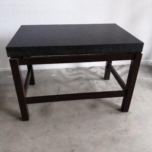 Used laboratory weighing table, granite top