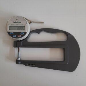 Used Mitutoyo digital thickness gauge