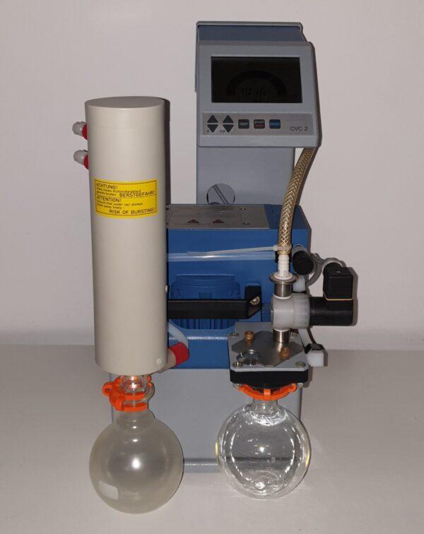 Used Vacuubrand MZ 2C diaphragm vacuum pump and CVC 2 controller